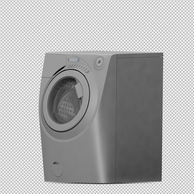 Isometric laundry machine 3d render Premium Psd