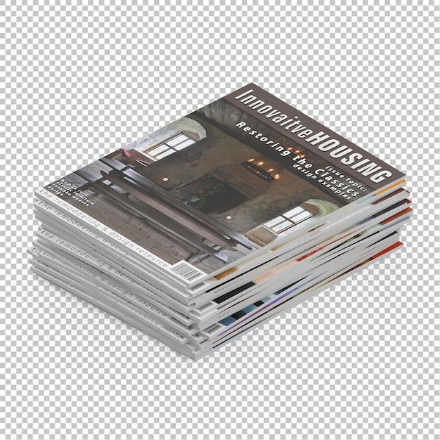 Isometric magazine Premium Psd