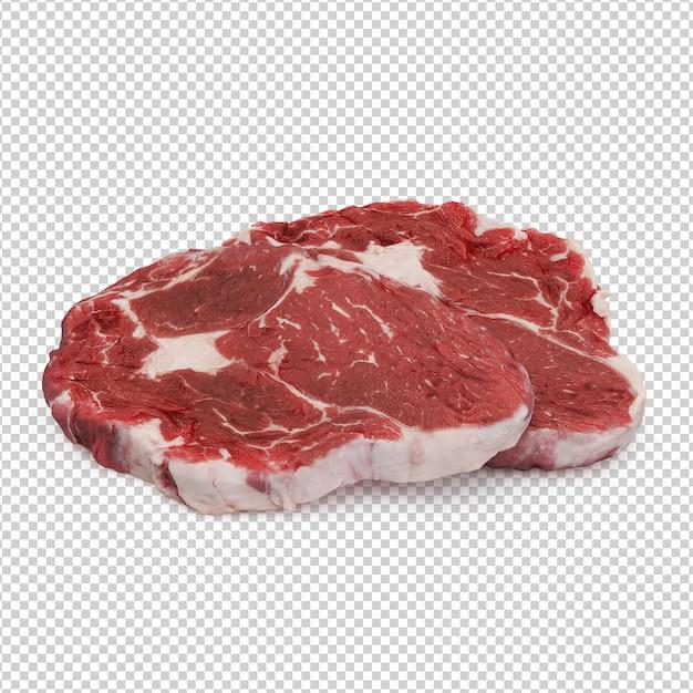 Isometric meat Premium Psd