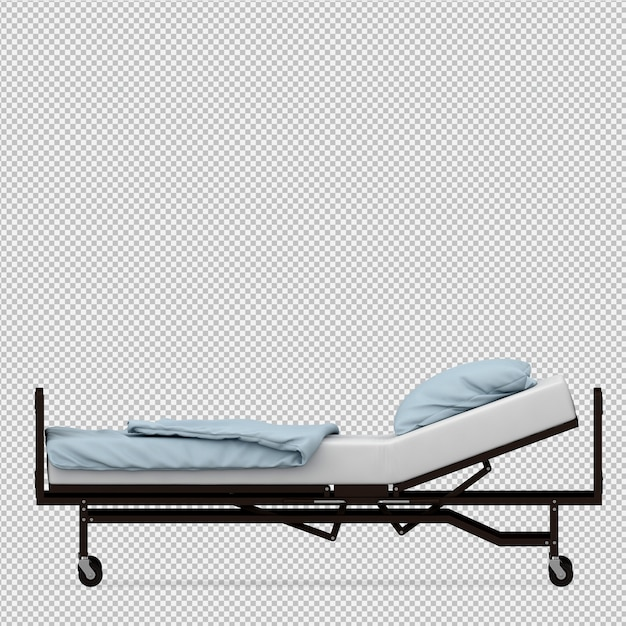 Isometric medical equipment 3d render Premium Psd
