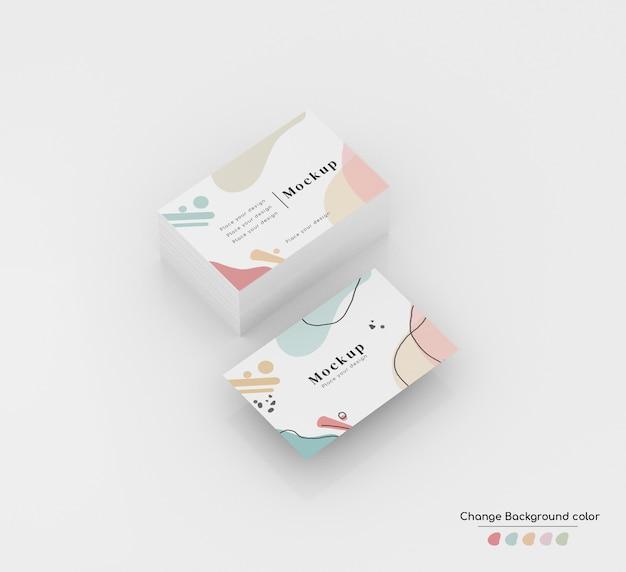 Изометрический минимальный бизнес-макет визитной карточки в пачке и левитации. Бесплатные Psd