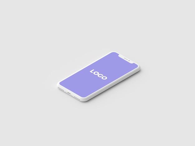 아이소 메트릭 최소 점토 Iphone X Presentation Mockup 프리미엄 PSD 파일