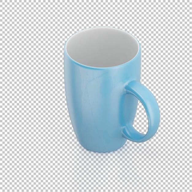Isometric mug PSD file | Premium Download