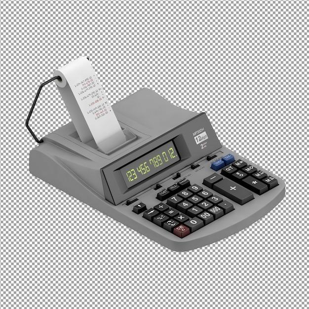 Isometric office equipment 3d render Premium Psd
