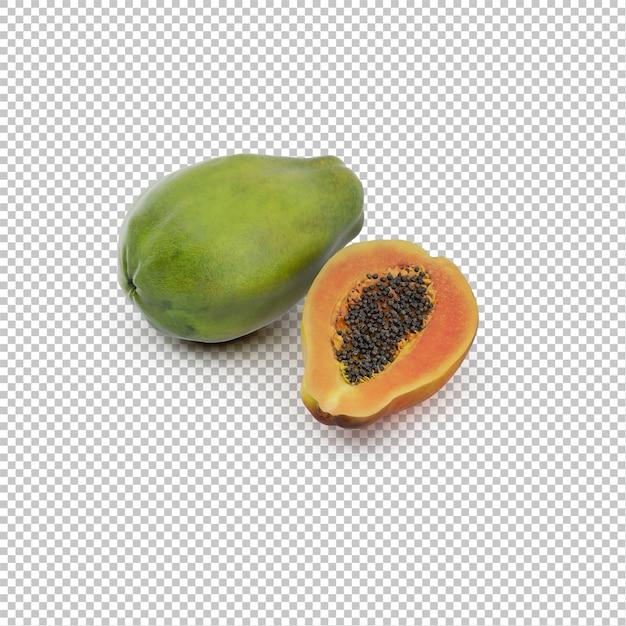 Isometric papaya Premium Psd