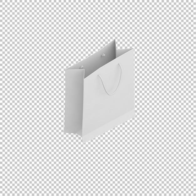 Isometric paper bag Premium Psd