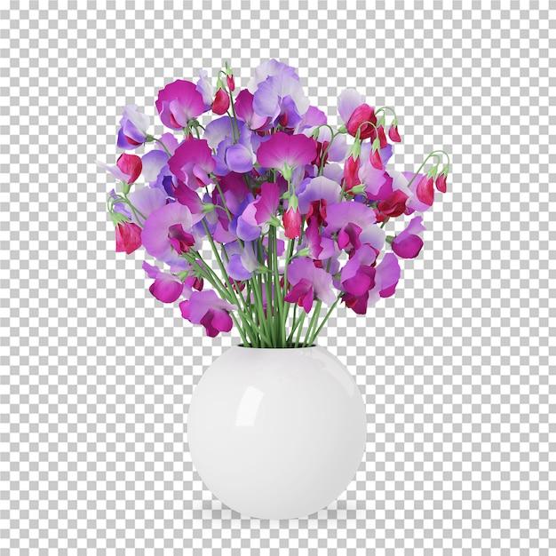 냄비 3d 렌더링에 아이소 메트릭 공장 프리미엄 PSD 파일