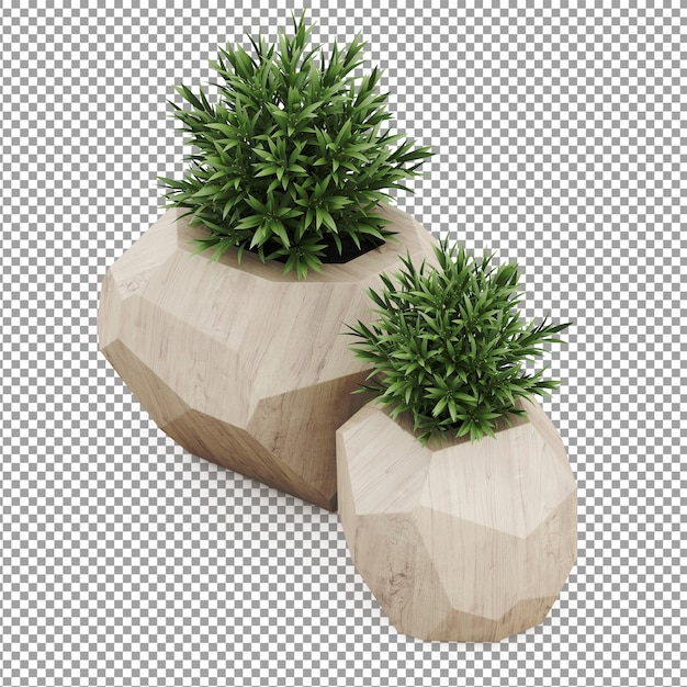Isometric plants Premium Psd