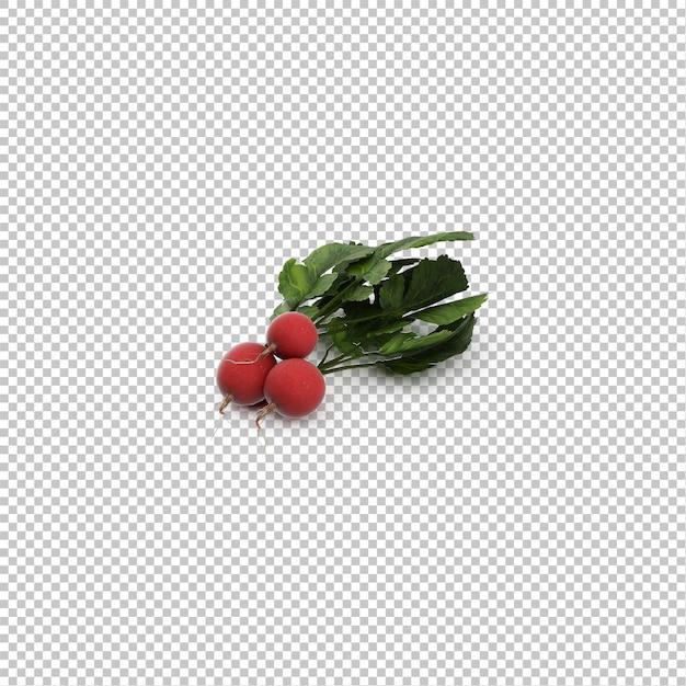 Isometric radishes Premium Psd