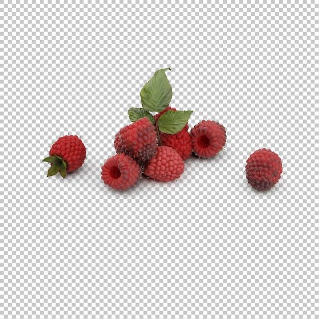 Isometric raspberries Premium Psd