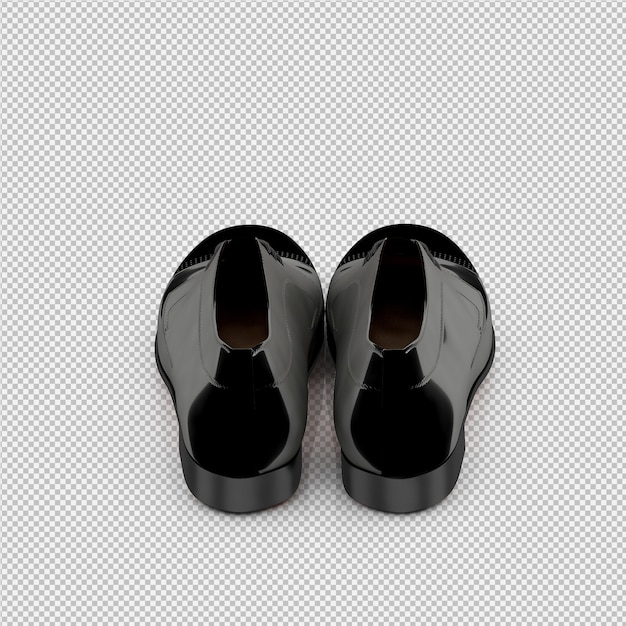 Isometric shoes 3d isolated render Premium Psd
