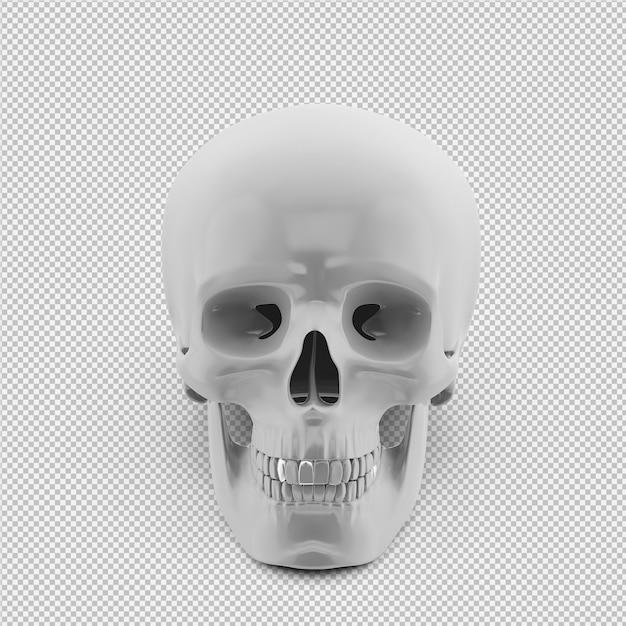 Isometric skull 3d isolated render Premium Psd