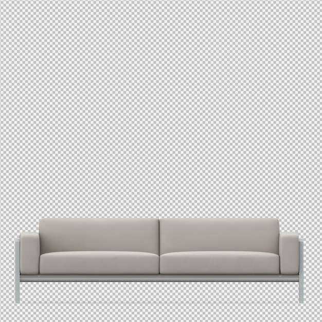 Isometric sofa 3d render Premium Psd