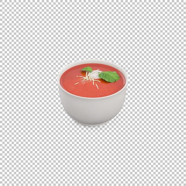 Isometric soup Premium Psd