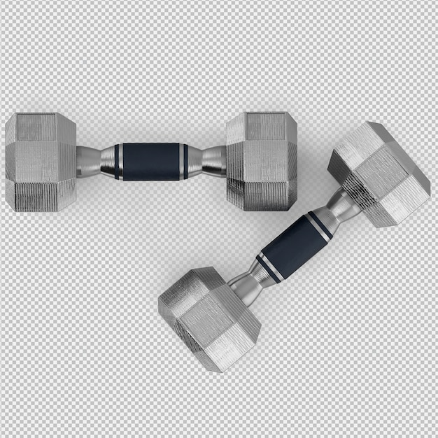Isometric sport and gym equipment 3d render Premium Psd