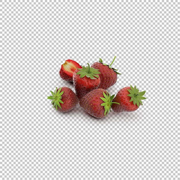 Isometric strawberries Premium Psd