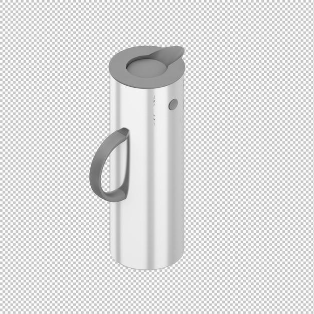 Isometric thermos Premium Psd