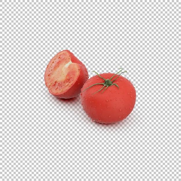 Isometric tomatos Premium Psd