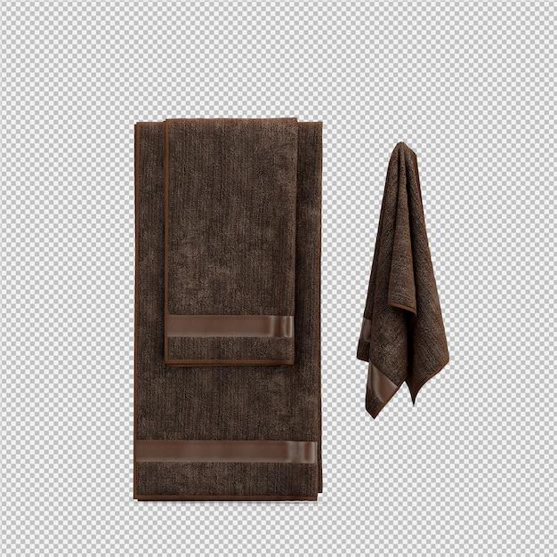 Изометрические полотенца 3d изолированные визуализации Premium Psd