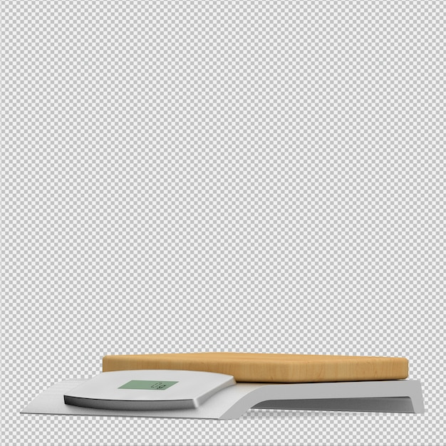 Isometric weigh scales 3d render Premium Psd