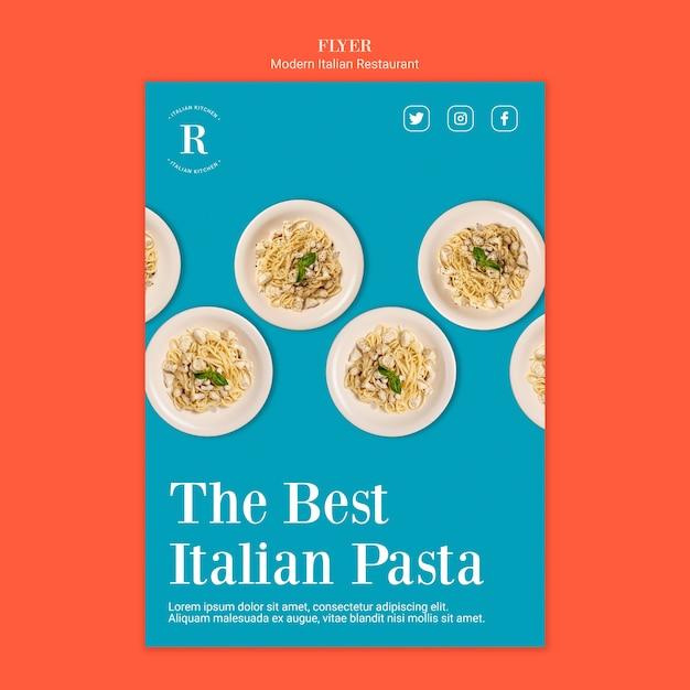 イタリア料理チラシテンプレート 無料 Psd
