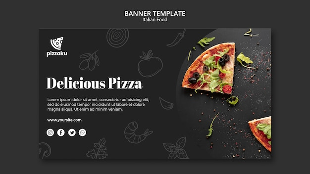 이탈리아 음식 배너 서식 파일 무료 PSD 파일