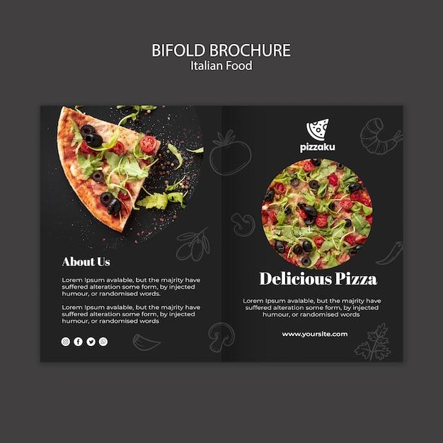 Italian food brochure card template Free Psd