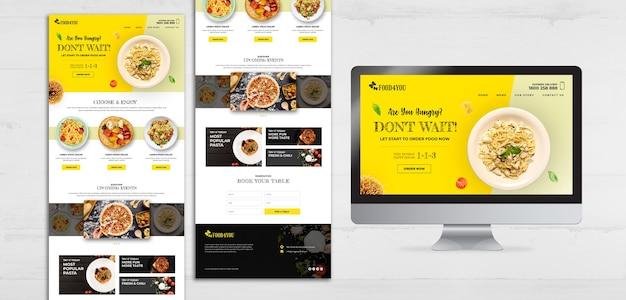 Modello web di concetto di cibo italiano Psd Gratuite
