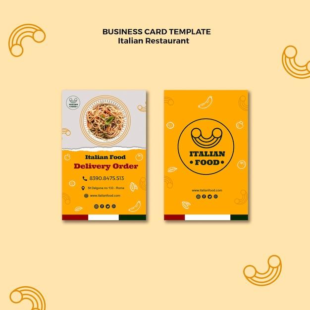 Italian restaurant business card Free Psd