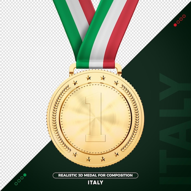 작곡에 대한 이탈리아 금메달 프리미엄 PSD 파일