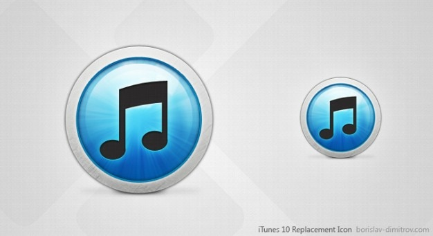 Itunes 10 replacement icon PSD file | Free Download