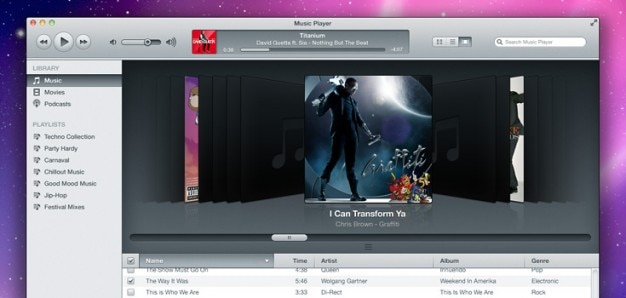 Itunes inspired music player psd 28 1917