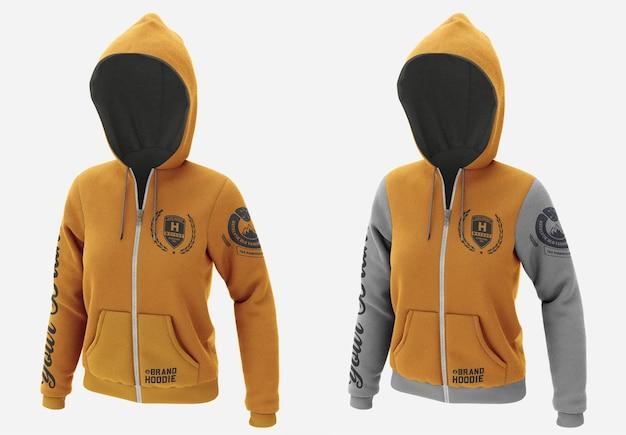 Jacket sweatshirt hoodie mockup isolated Premium Psd
