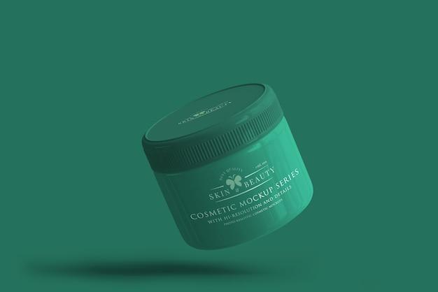 Косметический jar mockup Premium Psd