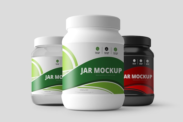 Дополнение к питанию jar mockup Premium Psd