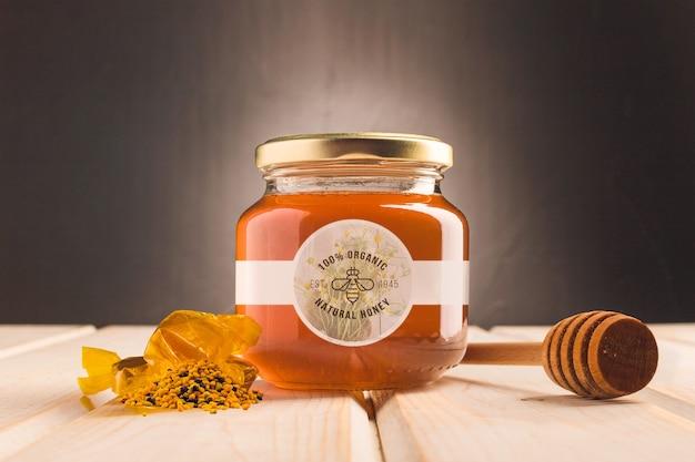Jar with natural honey Free Psd