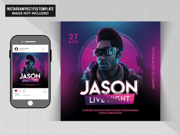 Jason live party flyer Premium Psd