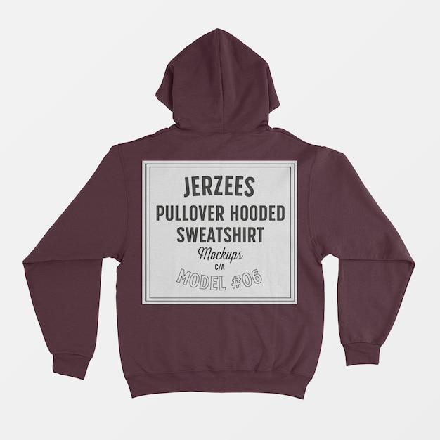 Jerzees pullover hooded sweatshirt mockup Free Psd