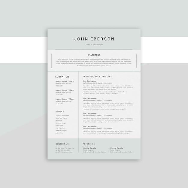 John eberson rsume Premium Psd