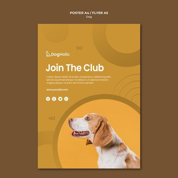 クラブ犬のポスターデザインに参加する 無料 Psd