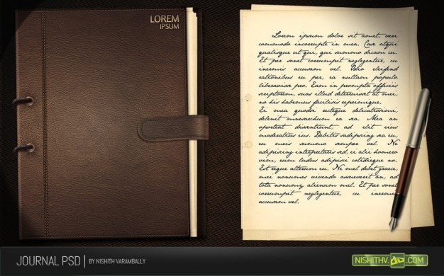 journal psd Free Psd