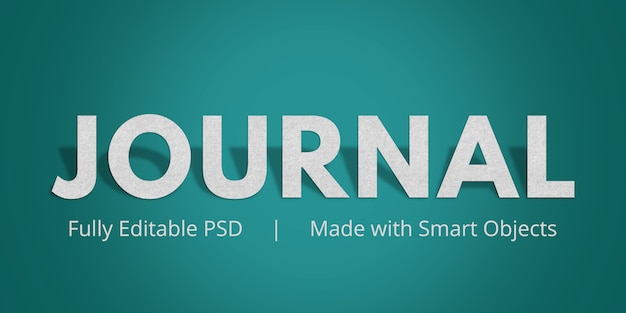 Journal text style effect Premium Psd