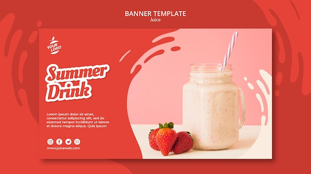 Juice bar banner template Premium Psd
