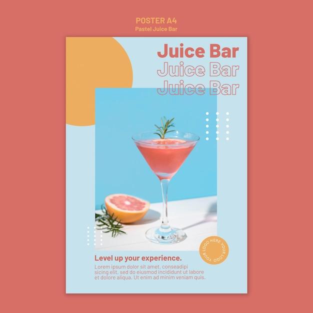 Juice bar poster template Free Psd
