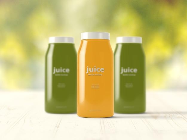 Juice bottles mock up Free Psd