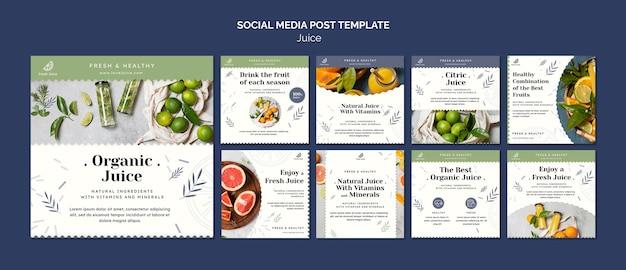Juice concept social media post template