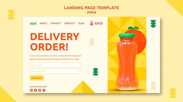 Juice landing page web template Free Psd