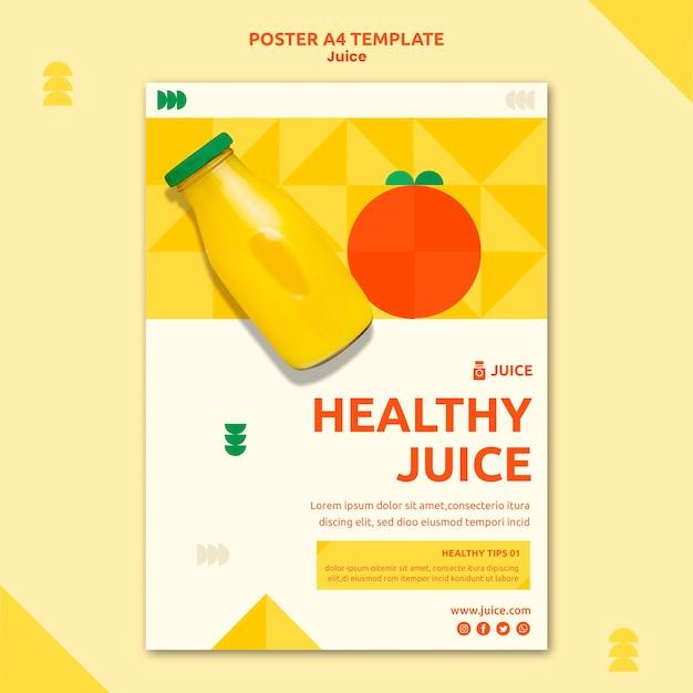 주스 포스터 템플릿 무료 PSD 파일