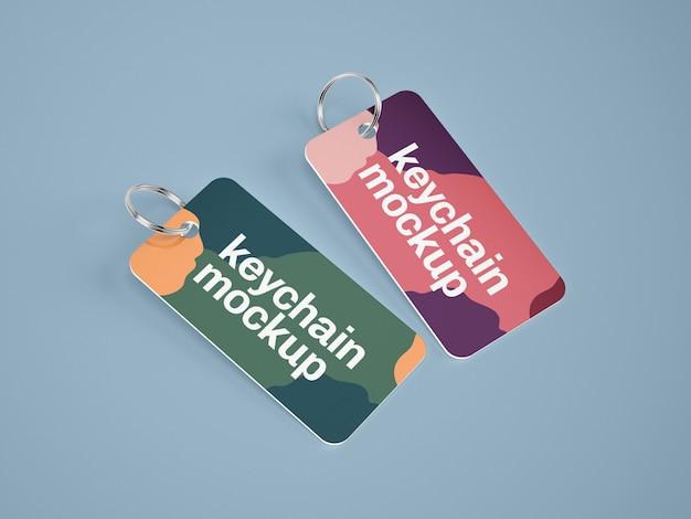 Keychain card mockup Premium Psd