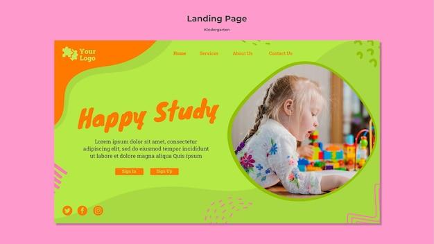 Шаблон целевой страницы детского сада Бесплатные Psd